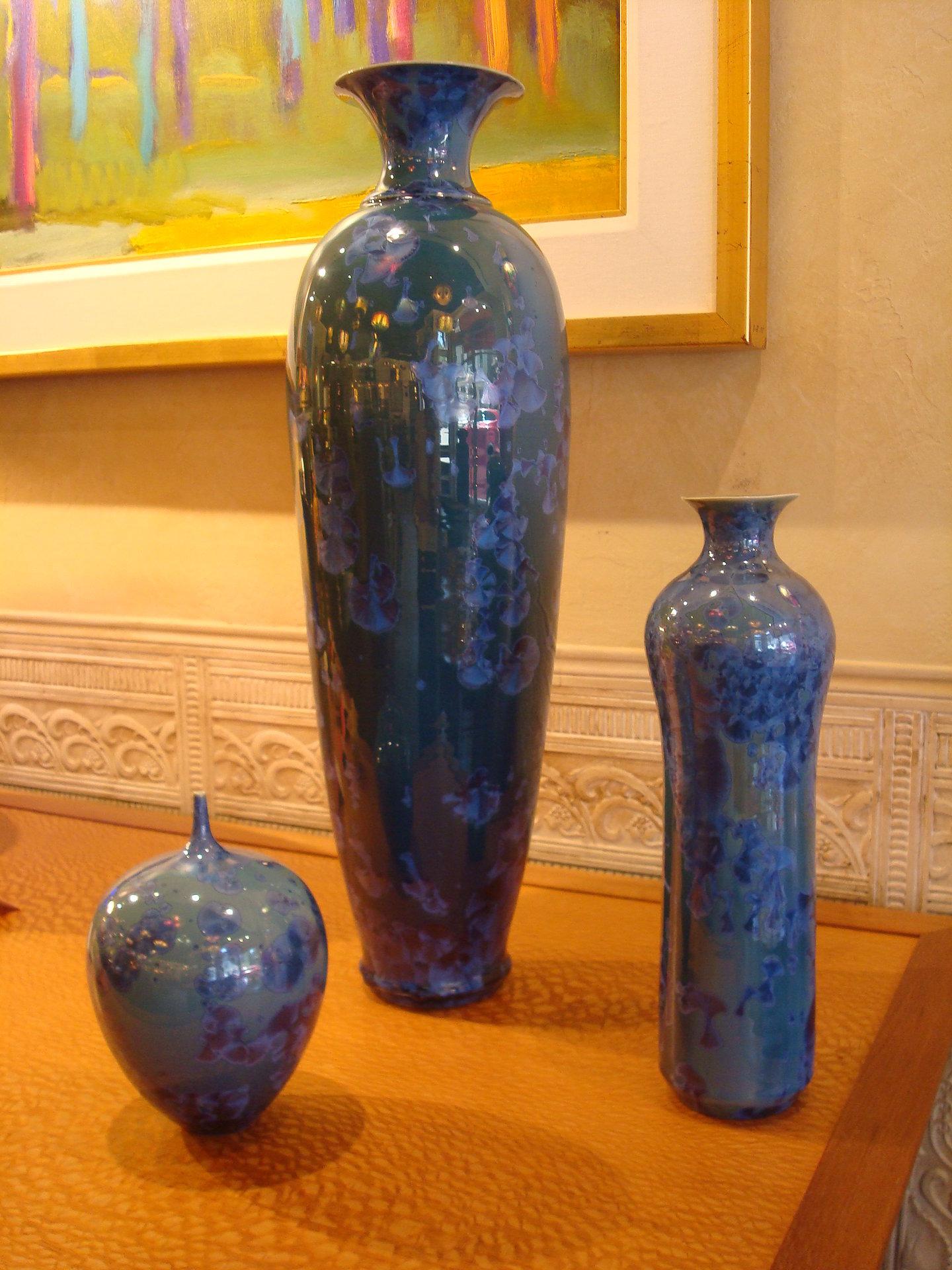 Sapphire vases