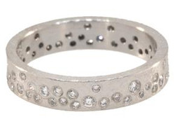 White Brilliant Diamond Ring, 4mm