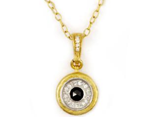 Droplet Celestial Pendant with Diamonds
