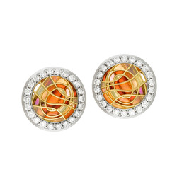 Swirl Diamond Earrings