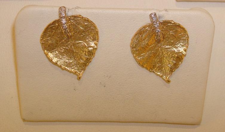 Aspen Post Earrings, Diamond Stem