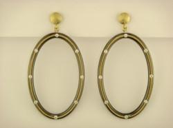 Oval Athena Earrings
