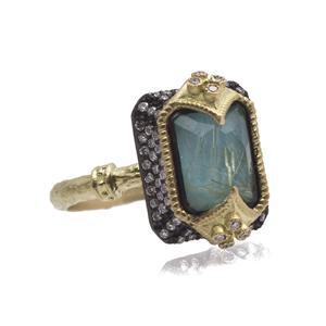 Dulcinea Blue Turquoise Doublet Ring