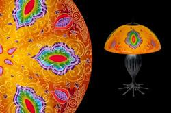 Kaz, Orange Table Lamp