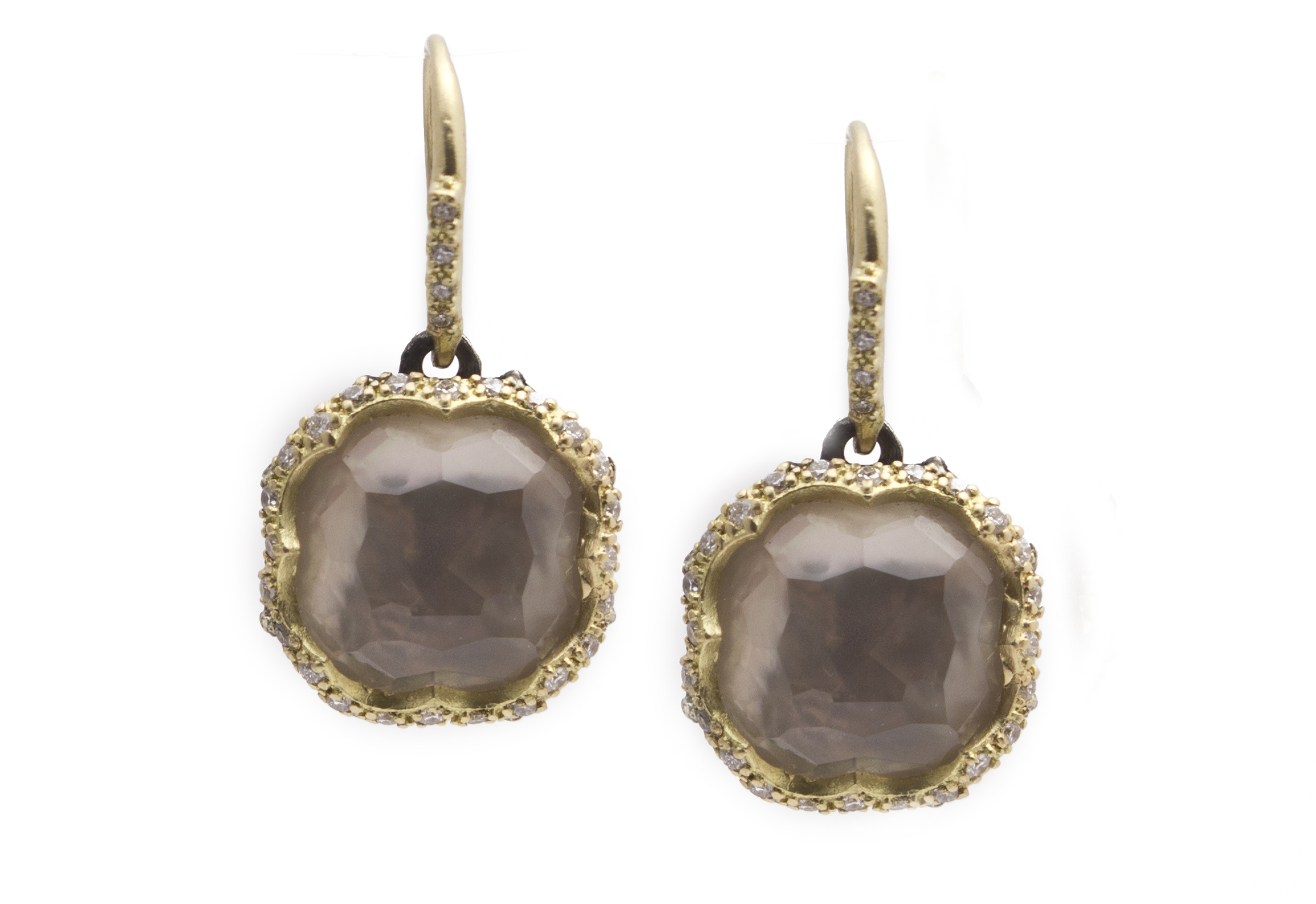 Smoky Topaz Doublet Earrings