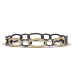 Open Circle Link Diamond Bangle