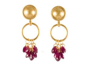 Classic Ruby Briolette Earrings