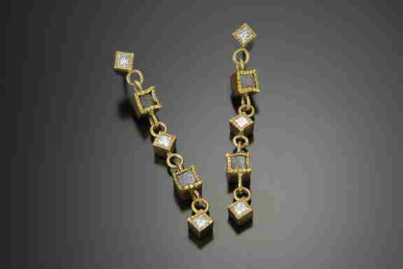 Cubes Dangle Earrings