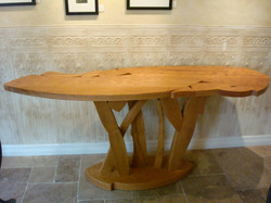 Sculpted Cherry Sofa Table