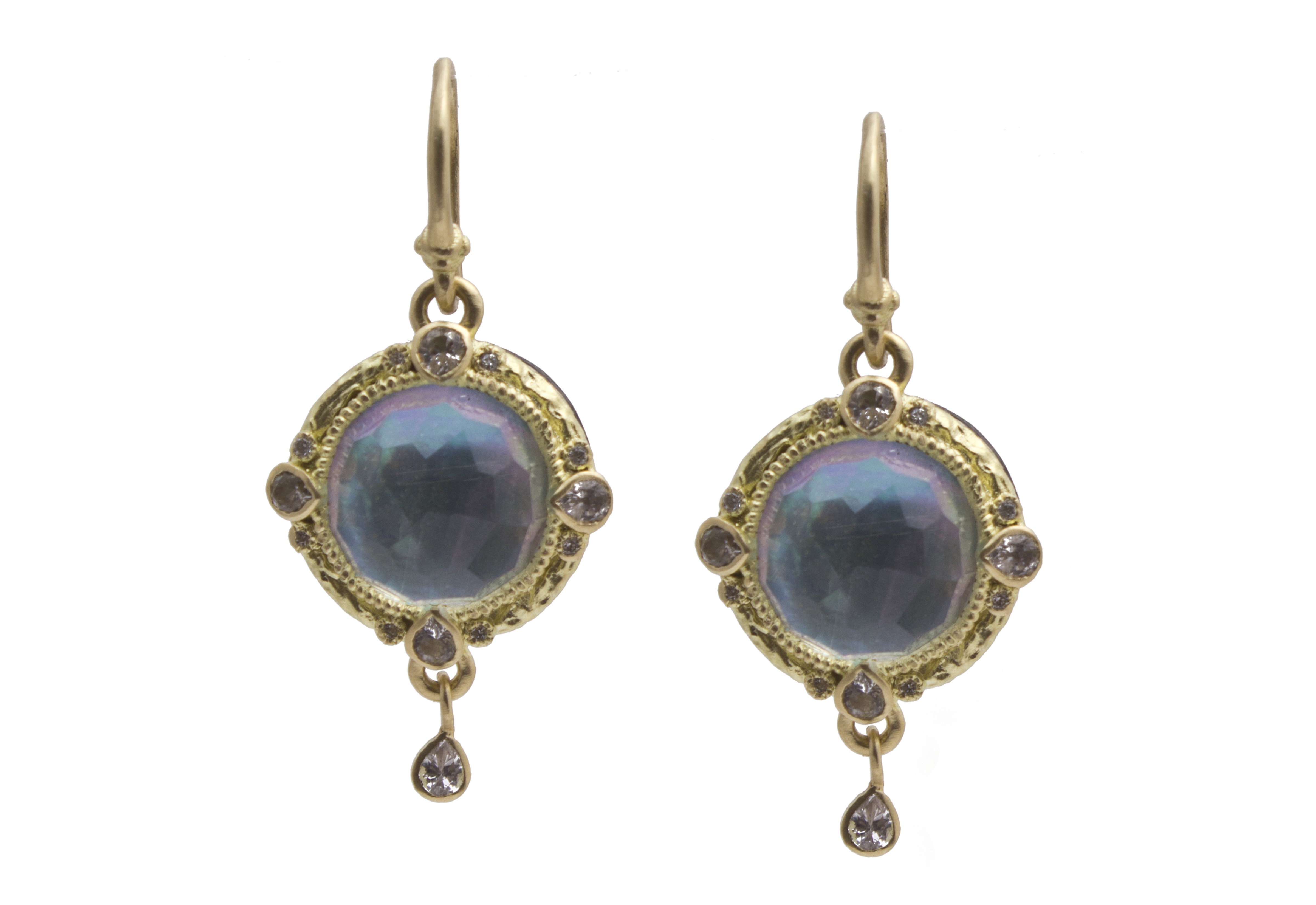 Peruvian Opal Triplet Earrings