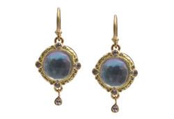 Peruvian Opal Triplet Earrings
