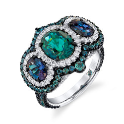 Alexandrite and Sapphire Ring