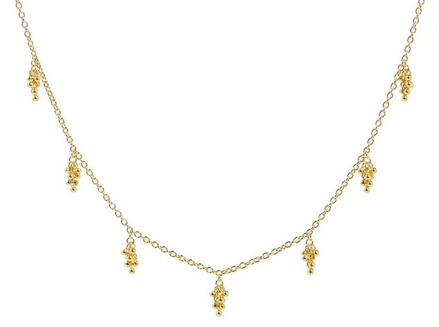 Boucle Necklace with Gold Clusters