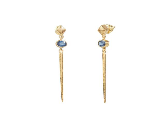 Stiletto Sapphire Earrings