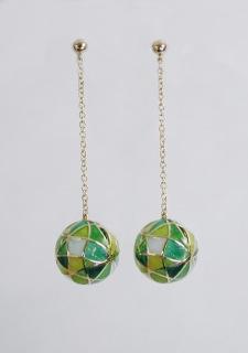 Drop Earrings in Green Tones