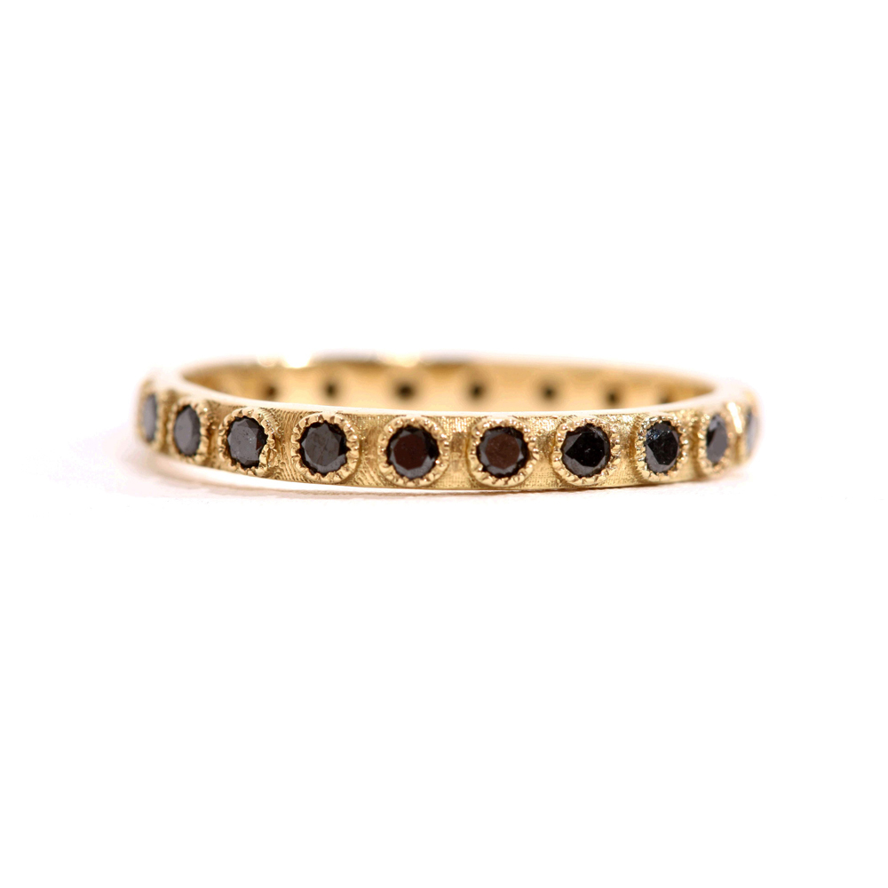 Black Diamond Stack Eternity Ring