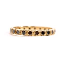 Black Diamond Stack Eternity Ring