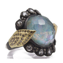 Peruvian Opal Triplet Hermes Ring