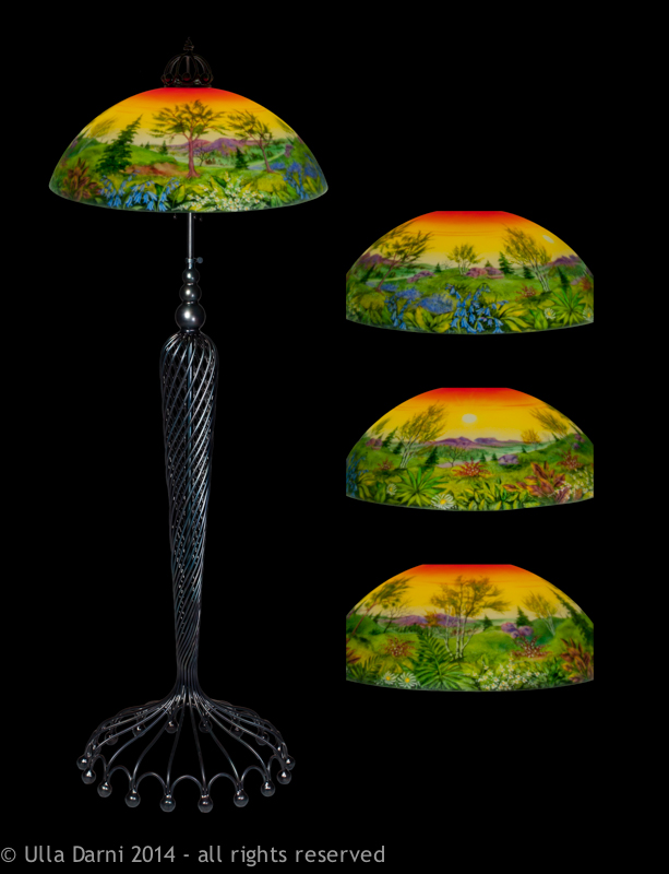 Tropical Sunset Floor Lamp