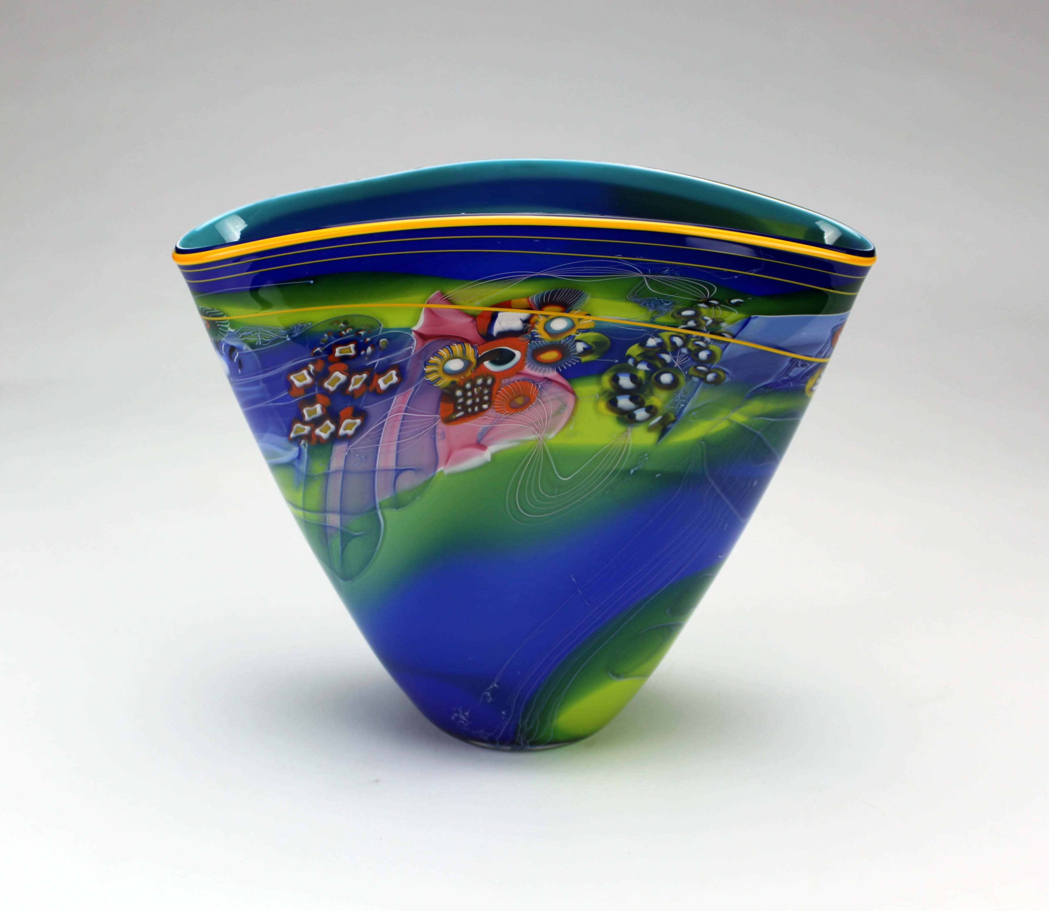 Small Colorfield Vessel, Blue
