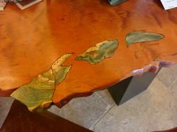 Bubinga Desk & Larsonite Detail