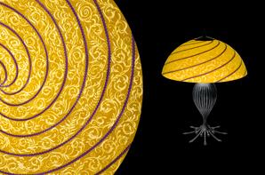 Vienna Thin, Purple Table Lamp