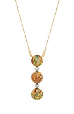 Three Drop Pendant Necklace