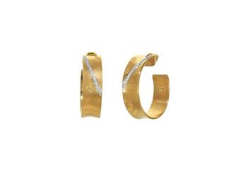 Hourglass Hoop Earrings with Diamonds