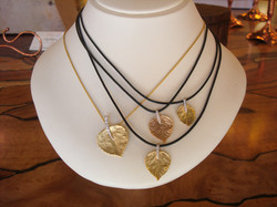 Aspen Leaf Pendants