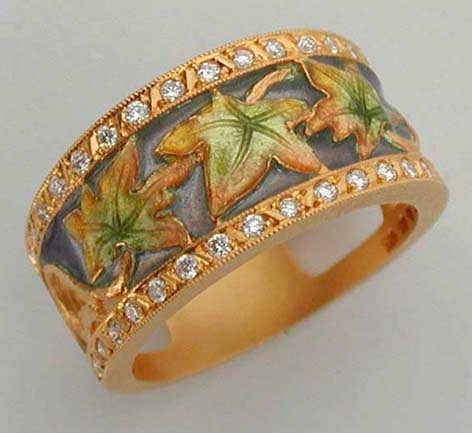 Falling Leaves Ring