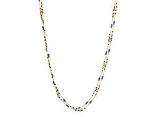 Long Delicate Rain Sapphire Necklace