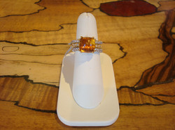 Citrine Cabochon Ring
