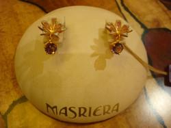 Flower earrings with Amethyst Drops