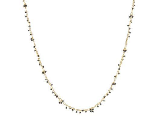 Delicate Black Diamond Necklace