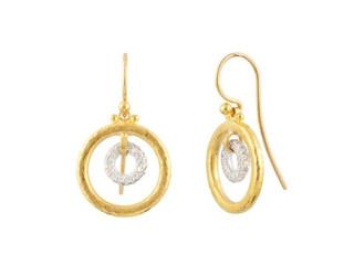 Hoopla Pave Diamond Drop Earrings
