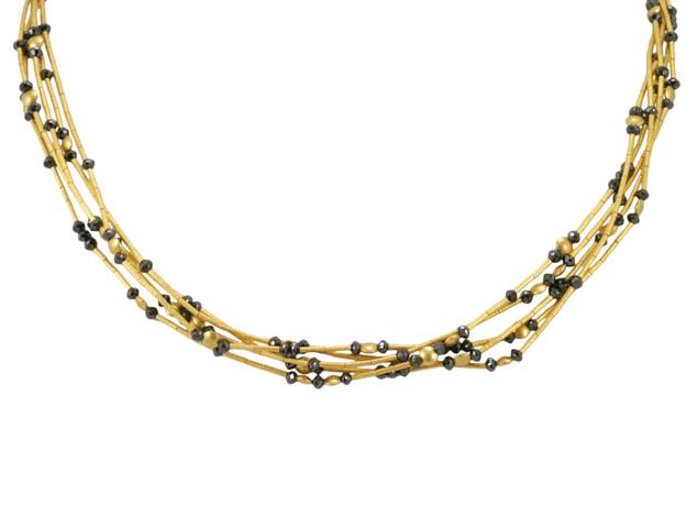 Black Diamond 5 Strand Necklace