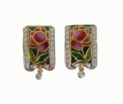 Spring Rose Earrings