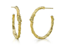Medium Branch Hoop Earrings