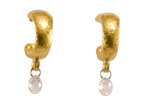 Classic Dew Drop Earrings with Diamond Briolette