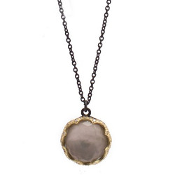 Smoky Topaz Doublet Necklace