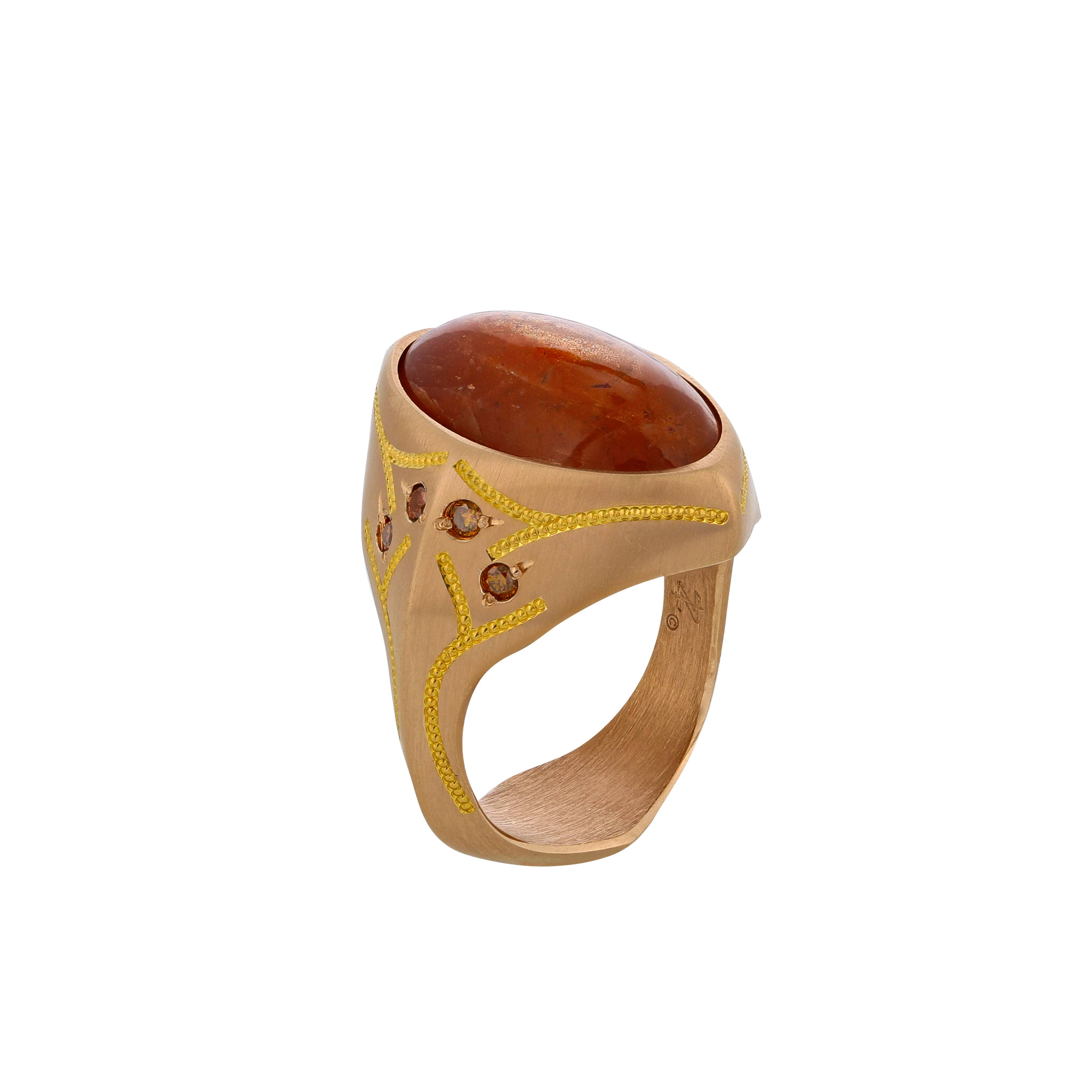 Sunstone Ring in Rose Gold