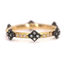 Cravelli Diamond Stack Gold Ring