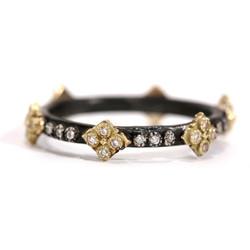 Cravelli Diamond Stack Sterling Ring