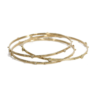 Bangles in 18ky Gold with Diamonds