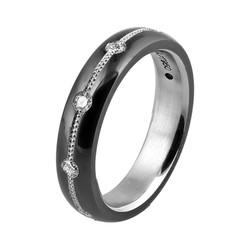 Ladies Slim Knightsteel Diamond Ring
