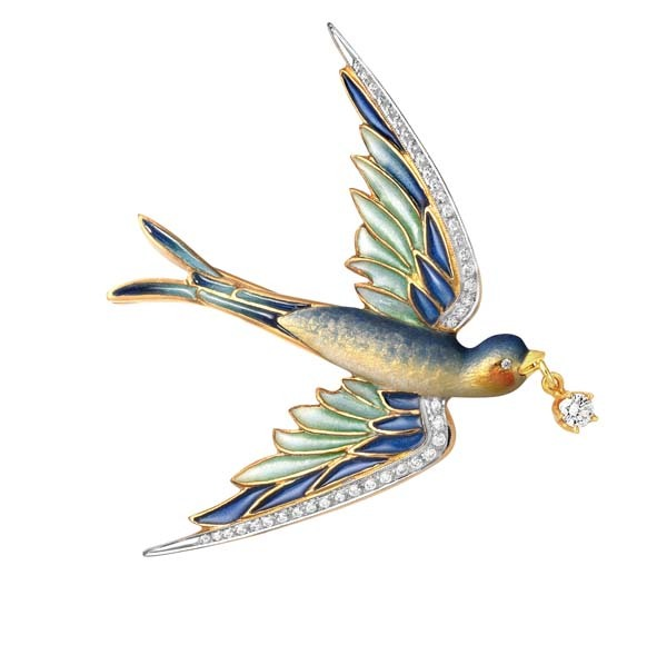 Swallow pendant/brooch