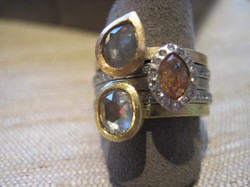Mini Diamond Ring Stack
