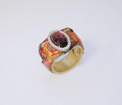 Phoenix Ring with Garnet