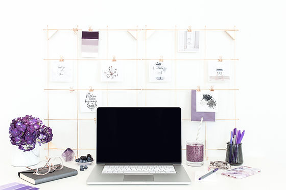 Purple Themed Workstation