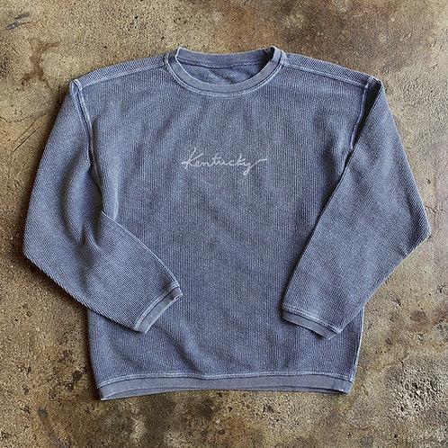 Kentucky Corded Sweatshirt - Denim